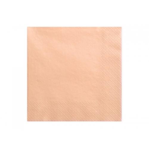 Serwetki papierowe - łososiowe (20 sztuk)