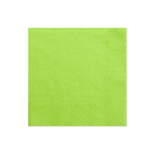 Serwetki papierowe - jasno zielone (20 sztuk)