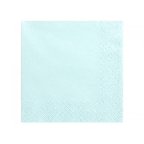 Serwetki papierowe - jasno błękitne (20 sztuk)
