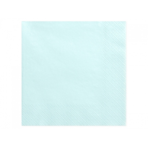 Serwetki papierowe - j. błękitne (20 sztuk)