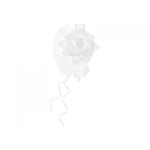 Bukieciki z różyczką, białe (4 sztuki)