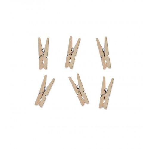 Klamerki drewniane - naturalne (20 sztuk)
