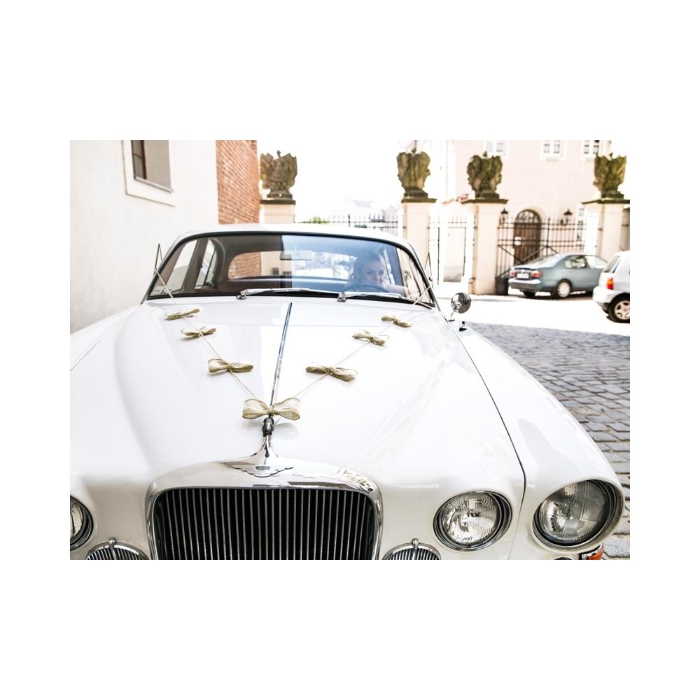 9866a665e149a3 Zestaw dekoracji samochodowych - kokardki - WeddingStore.pl