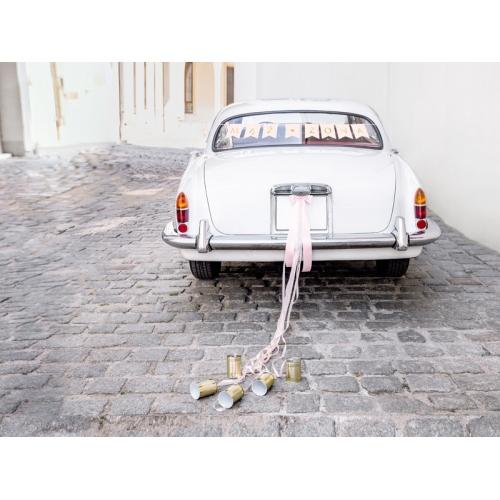 Zestaw dekoracji samochodowych -Mąż, Żona jasno różowy