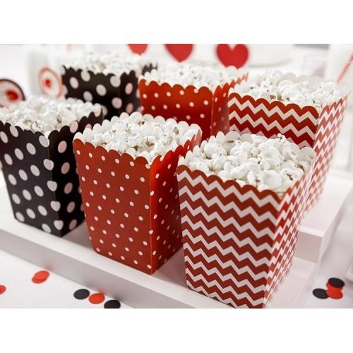 Pudełka na popcorn, biedronka (6 sztuk)