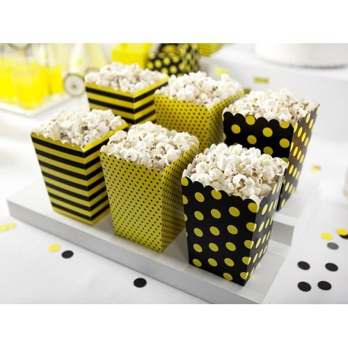 Pudełka na popcorn, pszczółka (6 sztuk)