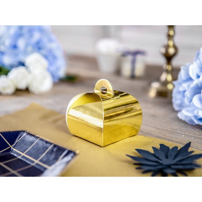 Pudełeczka dla gości, złote (10 sztuk)