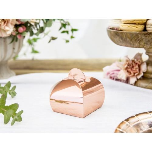 Pudełeczka dla gości, różowe złoto (10 sztuk)