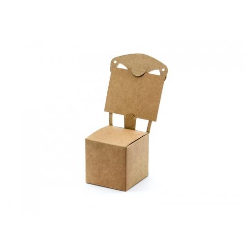Pudełeczka dla gości - krzesełka, kraft (10 sztuk)