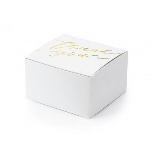 Pudełeczka Thank you, białe (10 sztuk)