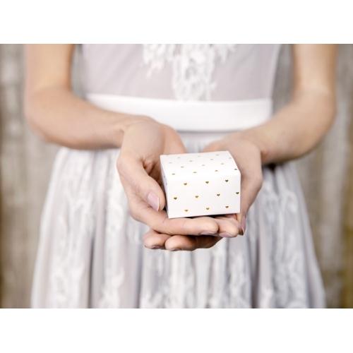 Pudełeczka serca, białe (10 sztuk)
