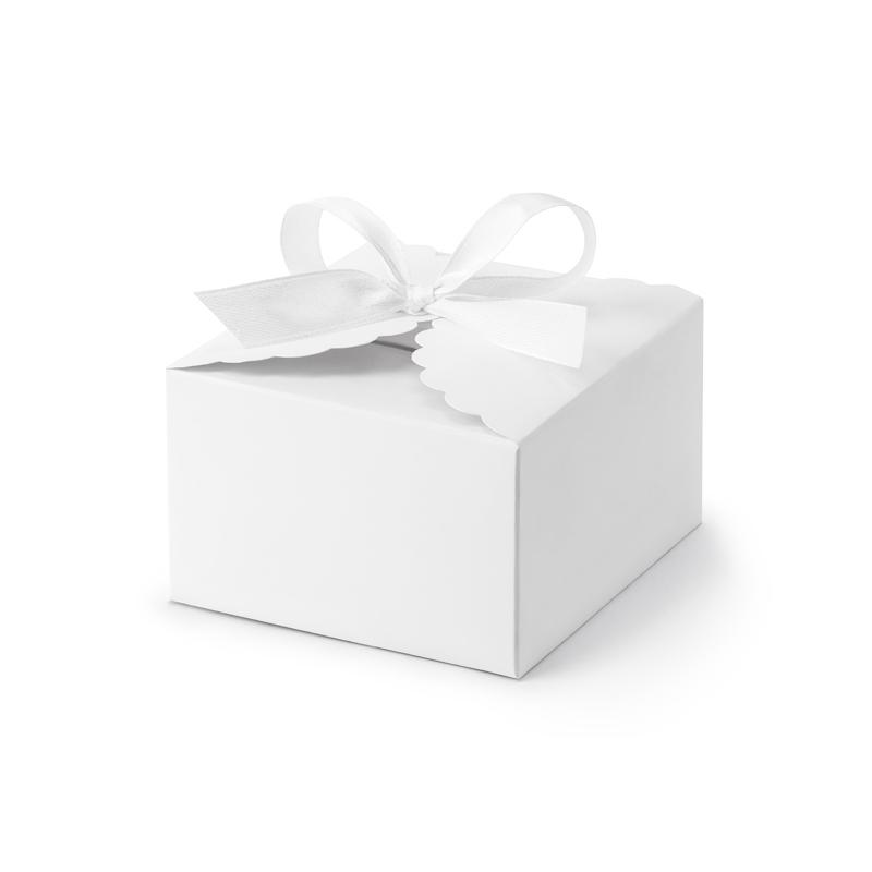 Pudełeczka chmurka, białe (10 sztuk)
