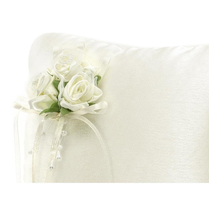 Poduszka pod obrączki kremowa