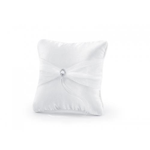 Poduszka pod obrączki ze srebrną aplikacją