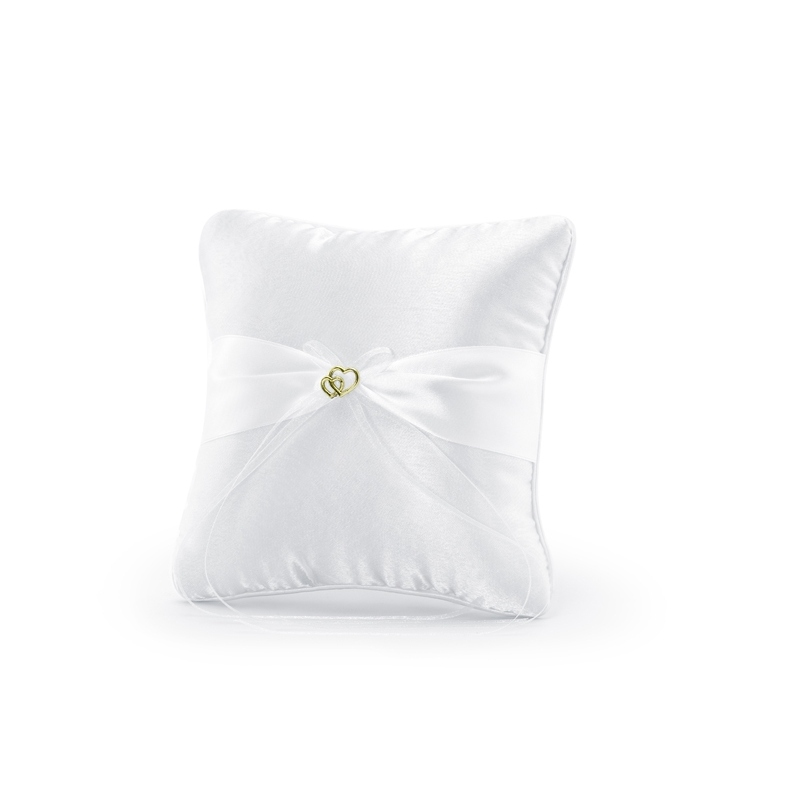 Poduszka pod obrączki ze złotą aplikacją
