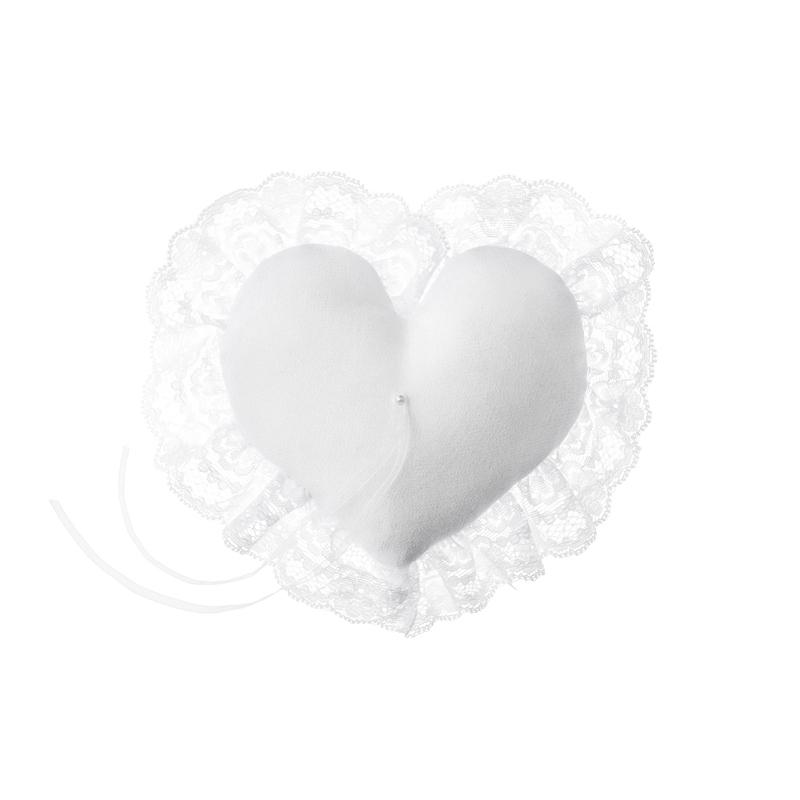Poduszka pod obrączki, serce