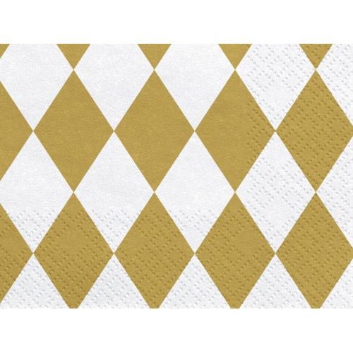Serwetki papierowe Harlequin złote (20 sztuk)