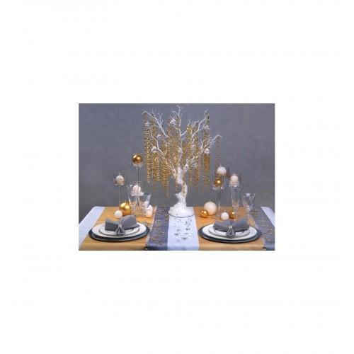 Girlanda perłowa - złoty pastel (5 sztuk)