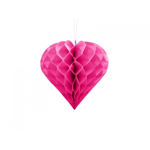 Serce bibułowe, ciemno różowe