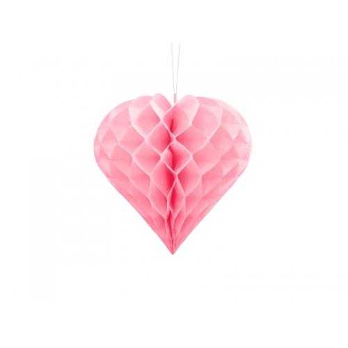 Serce bibułowe, jasno różowe