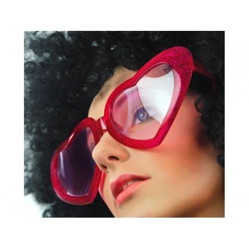 Okulary czerwone Serduszka