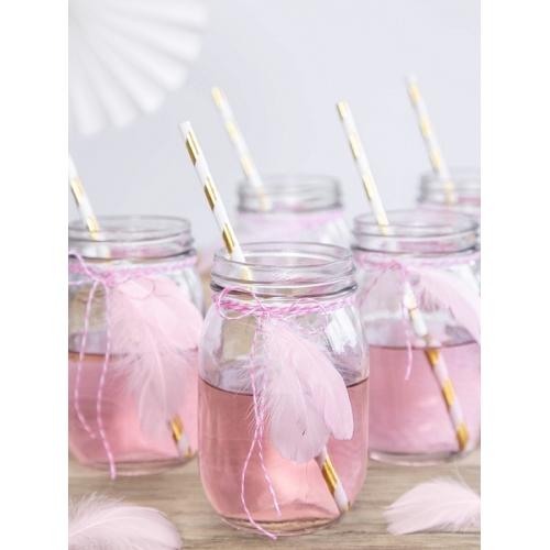 Piórka dekoracyjne jasno różowe