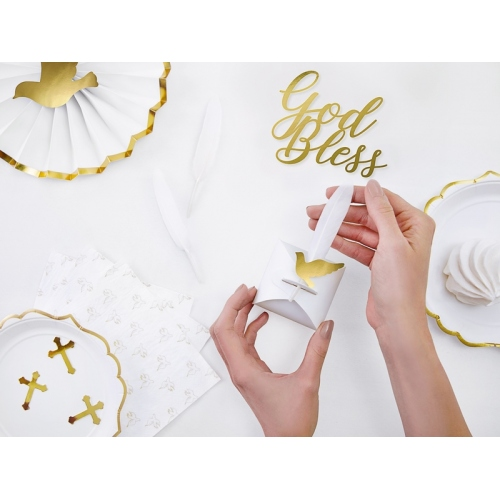 Piórka dekoracyjne białe (8 sztuk)