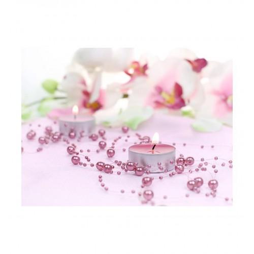 Girlanda perłowa - brudny róż (5 sztuk)
