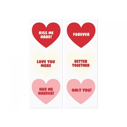 Torebki na słodycze, Sweet love (6 sztuk)