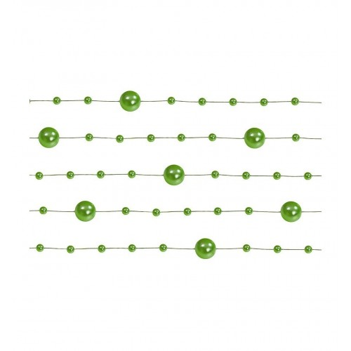 Girlanda perłowa - zielony (5 sztuk)