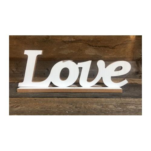 "Drewniany napis ""Love"" pochyły"