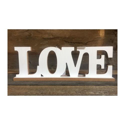 """Drewniany napis """"Love"""""""
