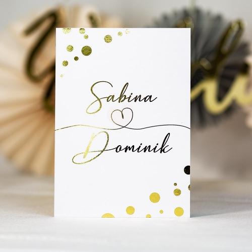 Zaproszenia ślubne - Shine serduszko - składane