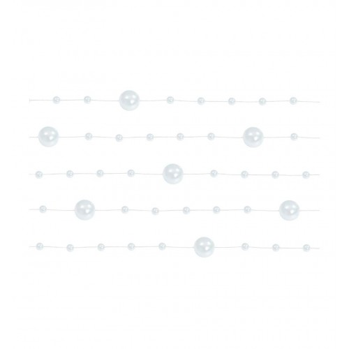 Girlanda perłowa - perłowy (5 sztuk)