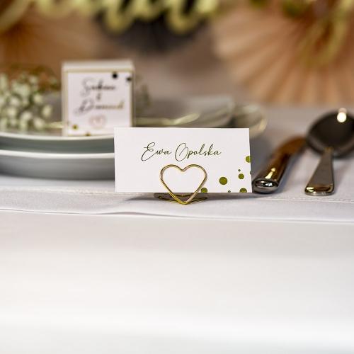 Winietki ślubne - Shine geometryczne - na stojaku