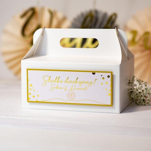 Pudełko na ciasto - Shine serduszko