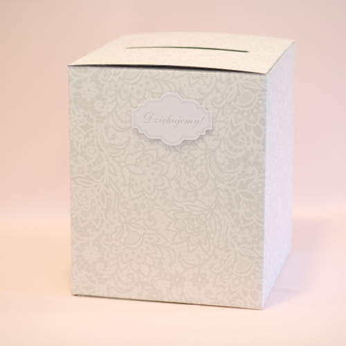 Pudełko na koperty z kwiatowym wzorem