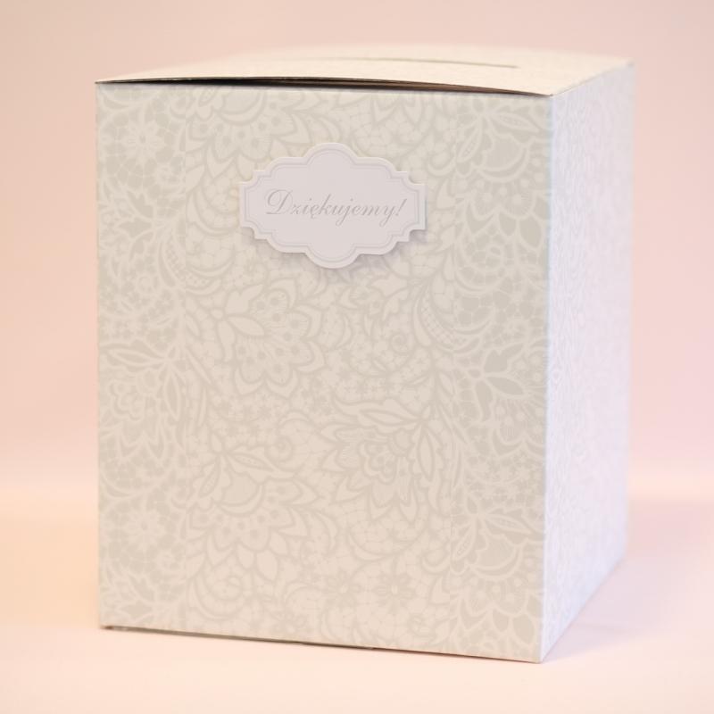 Pudełko na telegramy i pieniądze z kwiatowym wzorem