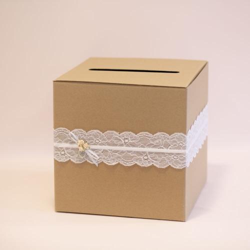 Pudełko na koperty - rustykalne