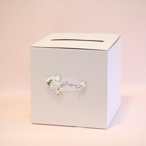 Pudełko na koperty - perłowe