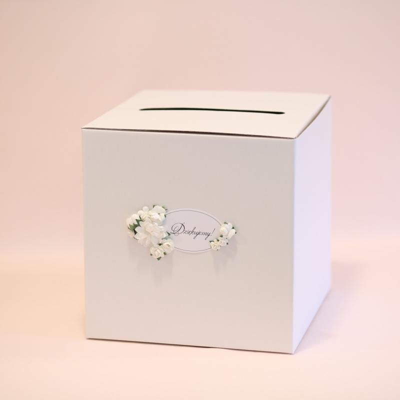 Pudełko na telegramy i pieniądze - perłowe