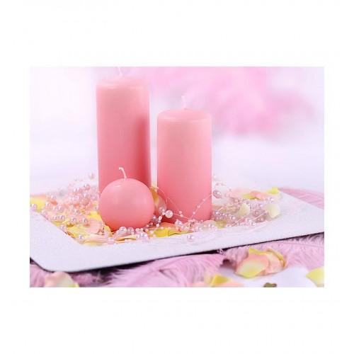 Girlanda perłowa - jasny róż (5 sztuk)