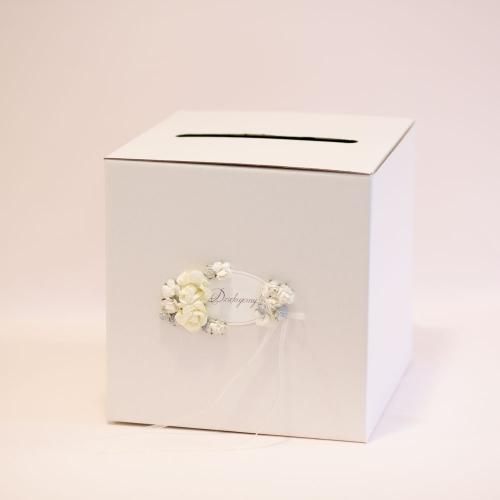Pudełko na koperty - perłowe złoto