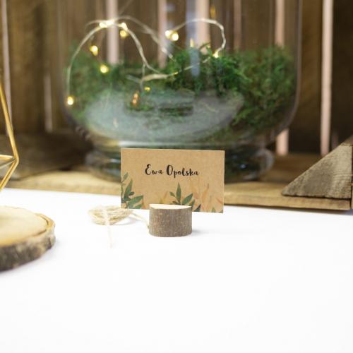 Winietka weselna z drewienkiem - Rustic Green