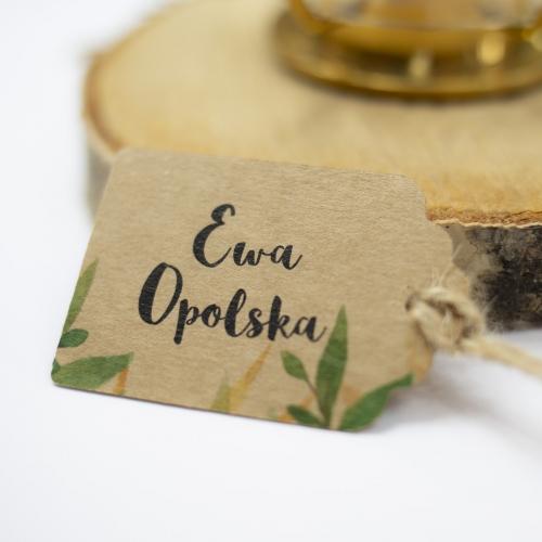 Bileciki ślubne - Rustic Green
