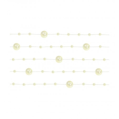 Girlanda perłowa - kremowy (5 sztuk)