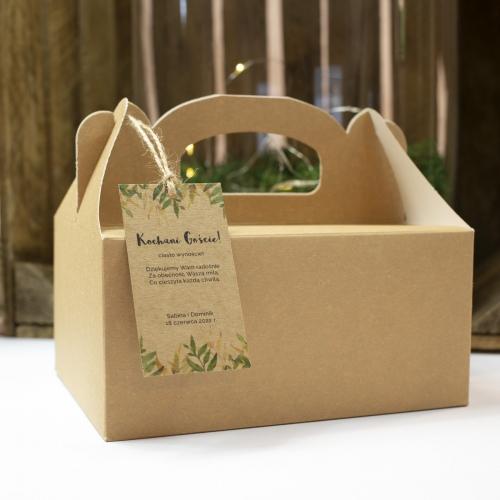 Duże pudełko na ciasto z papieru czerpanego - Rustic Green