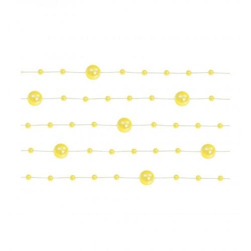 Girlanda perłowa - żółty (5 sztuk)