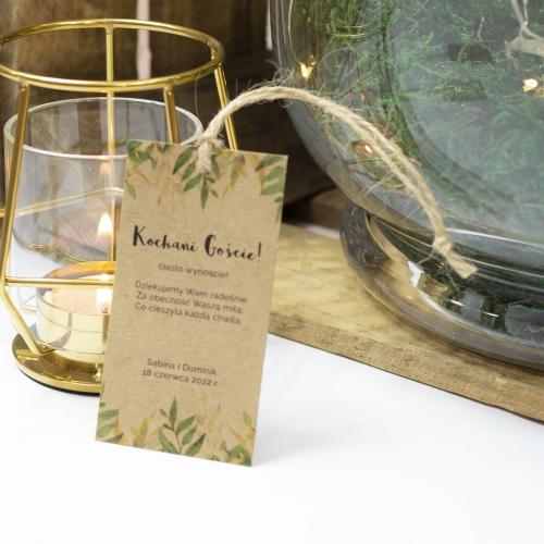 Ozdoba do ciasta weselnego - Rustic Green