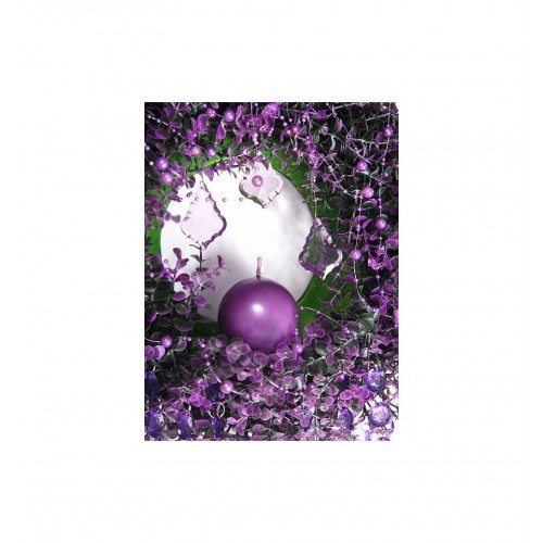 Girlanda perłowa - purpurowy (5 sztuk)